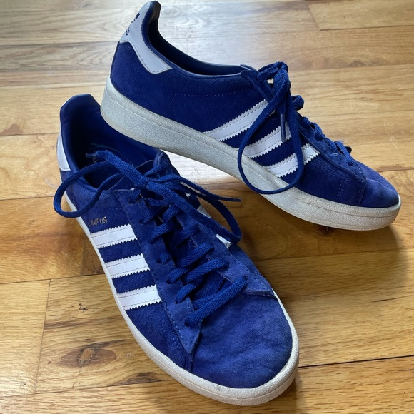 Adidas Campus Blue Suede Sneakers Shoes 6